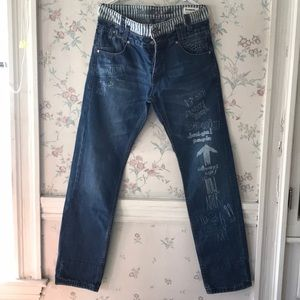 Stunning Free people Desigual jeans Sz 32